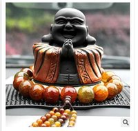 Wholesale Buddha worship carbon carving car security and peace car ornaments Lucky Fu car put clean air car ornaments Laughing Buddha A402
