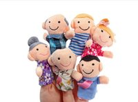 Wholesale 36PCS Baby Kids Plush Cloth Play Game Educational Learn Story Family Finger Puppets Toys Set TY06008