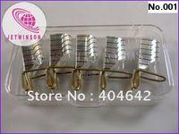Wholesale silver Reusable forms uv gel acrylic nail art tips nail form
