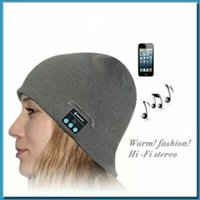 Wholesale Wireless Beanie Hat Bluetooth Gym headset music hat ideal warm winter hats headset handsfree