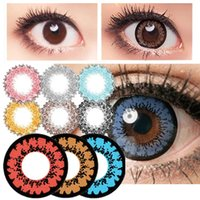 cosmetic contact lenses - Molases Muse Halloween Contact Lens Big Diameter Blue Pink Red Colored Contact Lenses Lens prescription Lens Cosmetic Eye Lens