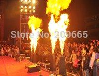 auto spray equipment - Wholesales Price XLOT DMX Fire Machine V V Spray Fire Machine Flame Projectors Stage Equipment DMX Fire Machine