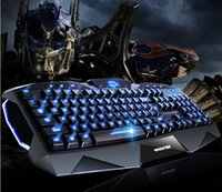 Wholesale World of Warcraft tricolor backlight waterproof USB dedicated gaming keyboard