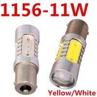 Wholesale 2pcs BA15S W LED Car Led DC V Reverse Backup Parking Bulb Auto Car Brake Turn Signal Light Yellow White