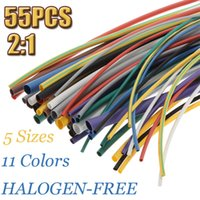 Wholesale 55pcs Colors Sizes Assortment Polyolefin H type Heat Shrink Tubing Tube Sleeving Wrap Wire Cable Kit