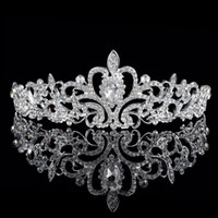 Wholesale Shinning Beaded Rhinestone Crystal Tiara Crown New Arrival Fashion Korean Bridal Wedding Hair Accessories Party Wedding Tiara