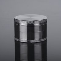 Wholesale New Hot MM Herb Grinder Zinc Parts Herb Grinder Metal Layers GunBlack CNC Teeth High Quality