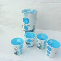 Plastic plastic tea cups - 2 colors New Frozen cup SET set cartoon Drink cup Handy Cup for Family frozen Elsa Anna Olaf cups Tea Sets Frozen A936 set