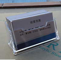 Wholesale One Folder Box Business Card Holder Personal Card Holders and Files Aging Resistant Transparent Acrylic MM Thick