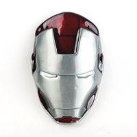 western belt wholesale - New Vintage Western Marvel Comics Hero Iron Man Mask Removable Metal Belt Buckle