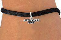 air slide belt - 30pcs Fashion Rhodium Plated Air Force Brat Bracelets Leather Rope Woven Elastic Bangles DIY Jewelry Belt Charm