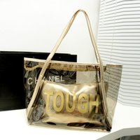cheap beach bag - Cheap Fahion Style Women Transparent Beach Bags Ladies Jelly Tote Bags Colors Waterproof Hand bags Shoulder Bags Female Shopping Bags