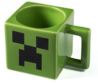 ceramic crafts - Best Gifts Hot Novelty Minecraft Ceramic Mug Green ceramic mug Coffee Crafting Cups ceramic green mug anime mug cup in stock