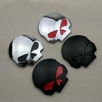 Cheap 8cm*8cm Universal Motorcycle Skull Head Emblem Best Plastic China Skull Head Badge