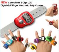 Wholesale Hot sale Mini Digital Electronic Muslim Finger Ring Tally Counter Tasbeeh Tasbih Golf Temple DHL