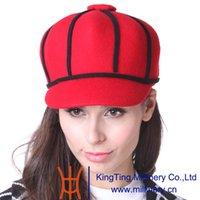 achat en gros de jeunes femmes chapeaux mode-Hot Selling Juin Femmes Jeunes Chapeau Hat Red Hat Laine Petite Ladies Sport Chapeaux Hiver Cool Style Spécial Designer Fashion Lady Casual Chapeaux