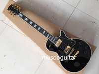 lp guitar - New Style th Anniversary LP Custom Electric guitar in black with ebony fingerboard and single binding nibs