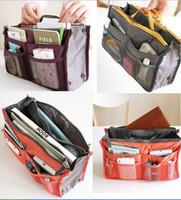 Wholesale 200ps BBA1875 women storage cosmetic bag Makeup Bag Purse MP3 Mp4 Phone Travel Insert Handbag Organizer fashion bag in bag Sundry Zipper Bag