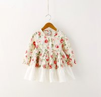 floral print dress - Ruffles Flowers Kids Clothing Spring Dresses Children Girls Long Sleeve Floral Printing Lovely Dress Childs Party Lace Dressy H2766
