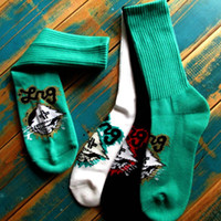 lrg - LRG geans Knit Tree LOGO Crew Socks for Skateboarding Outdoor Sports Clothing Equipment