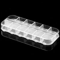 bead storage - Drop Shipping Retail Cell Empty Plastic Storage Beads Case False Nail Art Set Tips Rhinestones Box estNew