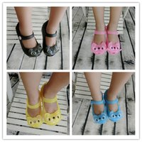 baby home shoes - Summer style Children s shoes home outdoor girls loafers baby flat cat jelly toddler kids shoes sandals CSY788 R Y P