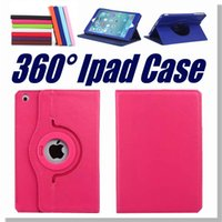 Wholesale Ipad Case For Ipad Mini Air ipad inch Degree Rotation Lichee Pattern Wallet PU For Ipad Case with OPP Package