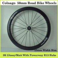 Wholesale Factory Price Col nago Wheels Carbon mm With mm Width Rim Powerway R13 Hubs Cycle Wheels C K Glossy Matt Finsih Bicycle Wheels