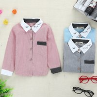 Cheap Baby boy clothes Tops tees t shirt Long Sleeve clothing Cotton Korean Cool Style with stripes Spring Autumn Sunny B20