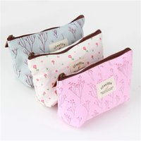 Wholesale 1pc floral cartoon pencil case school pencil cases for girl stationery large capacity pencil bag Newest