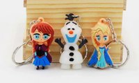 Wholesale D Frozen Keychain Princess Anna olaf keychains Pendant figure toy Gift for Kids