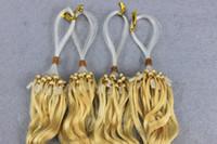 micro loop hair extensions - Micro Link Hair Extension Human Hair Blond Brown Dark color loop hair extension