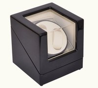 Wholesale Luxury head Black Silent Motor wooden Watch Winder Self winding Box For Automatic Mechanical Watch