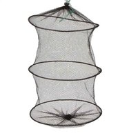 net fishing equipment - Mini Layers cm Small Fish Lobster Shrimp Collapsible Portable Nylon Mesh Fishing Net Cage Fishing Up Equipment Tool