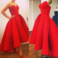 Cheap 2015 Elie Saab Red Prom Evening Dresses Hi Lo Ball Gown Formal Prom Party Gowns