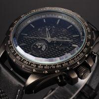 Cheap Frilled Shark Series Black Male Clock 6 Hands Stop Watch Chronograph Japan Movement Analog Relojes Outdoor Sport Men Quartz Watch SH192