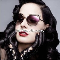 amber for sale - Hot Sale New Metal Frame Dita Sexy Cat Eye Sunglasses for Women Coating Brand vintage sun glasses