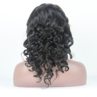 Indian Hair africa stocks - 2015 new arrival beautiful loose wave africa american peruvian virgin hair glueless full lace wigs with bangs can be dyed in stock
