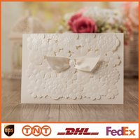 christmas cards - Wedding Invitations Customize Flowers Hollow Wedding Cards Pearl Paper Laser Cut Invitation Card Wedding Favors cw5133