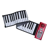 Wholesale Portable Standard Keys MIDI Roll Up Piano Electronic Silicone Rubber Soft Keyboard Piano Mini Musical Instrument