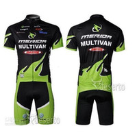 Wholesale summer Merida Team Cycling Jersey Bib Set Hot Sale Outdoor Bicyle Wearing Cycling Jersey Clothes Top And Tight Bib Shorts