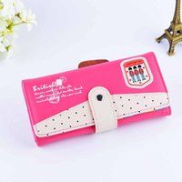 assorted candies - 1 Piece Latest Women Wallet Fashion Accessories High Quality Leather Cartoon Cute Candy Color Assorted Colors Hasp Clutch Bag Coin purse