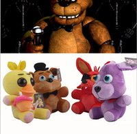 Wholesale Five Nights At Freddy s FNAF Freddy cm chica bonnie Bear foxy Plush teddy bear Toys Doll for kids baby christmas doll gift