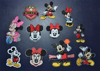 Wholesale Sales promotion mixed design Minnie Mouse Mickey mouse embroidered patch iron on Motif Applique cloth accessories