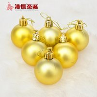 acrylic matte medium - Factory Hong Kong Hang Christmas Hanging Decoration cm cm Matte golden Christmas balls Christmas tree ornaments arranged Christ