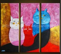 beautiful cat pictures - Oil Painting Asian beautiful cat Decor Painting Canvas Art High Quality Modern Abstract Oil Painting Happy For Living Room High quality