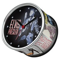 antique singer - Singer Star Of Elvis Presley Rock and Roll Wall Clocks With Desk Clock Magnetic Table Clocks On Back
