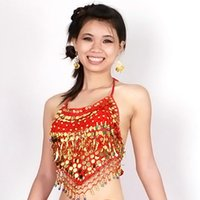 Wholesale Tribal Belly Dance Costume Choli Top Bra Beads Bells color