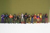 Wholesale DC Comics Superman Green Lantern The Flash The Atom Black Canary PVC Action Figures Collection Model Toys set