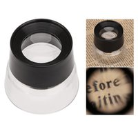 microscope for eye - 10X Magnifying Glasses Lens Microscope Cylinder Eye Magnifier Lupas De Aumento Ferramentas Loupe for Jewelry Watch Coin Stamp